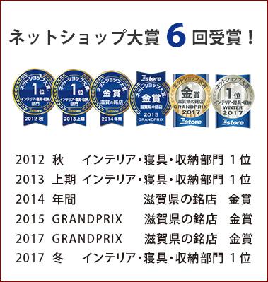 4年連続受賞メダル